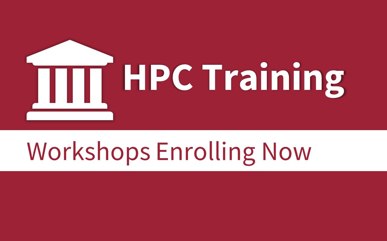 New to HPC? Register for a starter workshop!